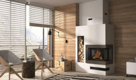 Vente cheminée contemporaine La Ravoire